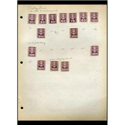 1921 Danzig Hand Made Stamp Collection Album Page 14 Pieces (STM-0111)