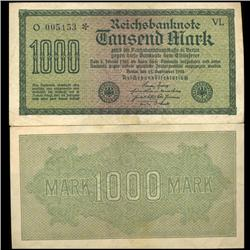 1922 Germany 1000 Mark Note Hi Grade Rare (CUR-05672)