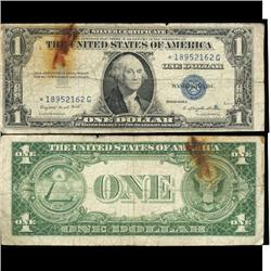 1935G $1 Silver Certificate Star Note Circulated RARE (COI-4692)