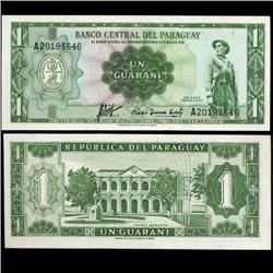 1952 Paraguay 1 Peso Note Crisp Uncirculated Type 2 (CUR-05717)