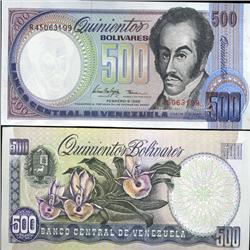 1998 Venezuela 500 Bolivares Crisp Uncirculated Note (CUR-05616)