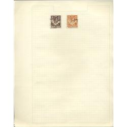 1930s N. Rhodesia Hand Made Stamp Collection Album Page 2 Pieces (STM-0260)