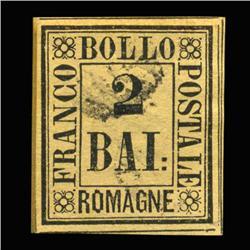 1859 RARE Italy Romagna 2b Postal Stamp Hi Grade (STM-0201)