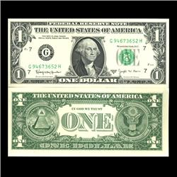 1963B $1 Chicago Federal Reserve BARR Note Scarce Crisp Uncirculated (CUR-06028)