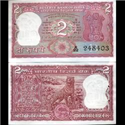 1977 India 2 Rupee Crisp Uncirculated (CUR-06199)