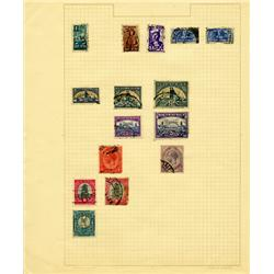 1910s/40s S. Africa Hand Made Stamp Collection Album Page 15 Pieces (STM-0275)