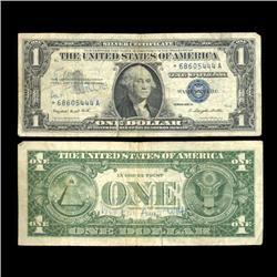 1957A $1 Silver Certificate Star Note Circulated RARE (COI-4700)