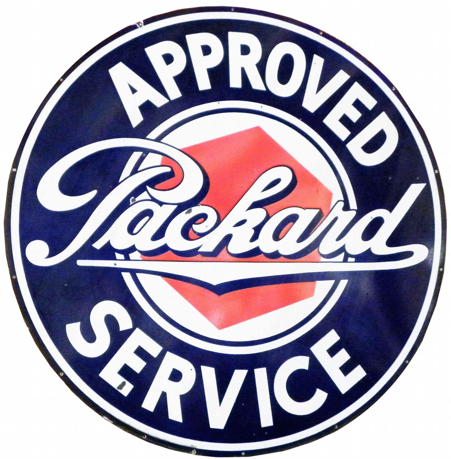 """Packard-Approved Service 22/"""" Metal Sign"""