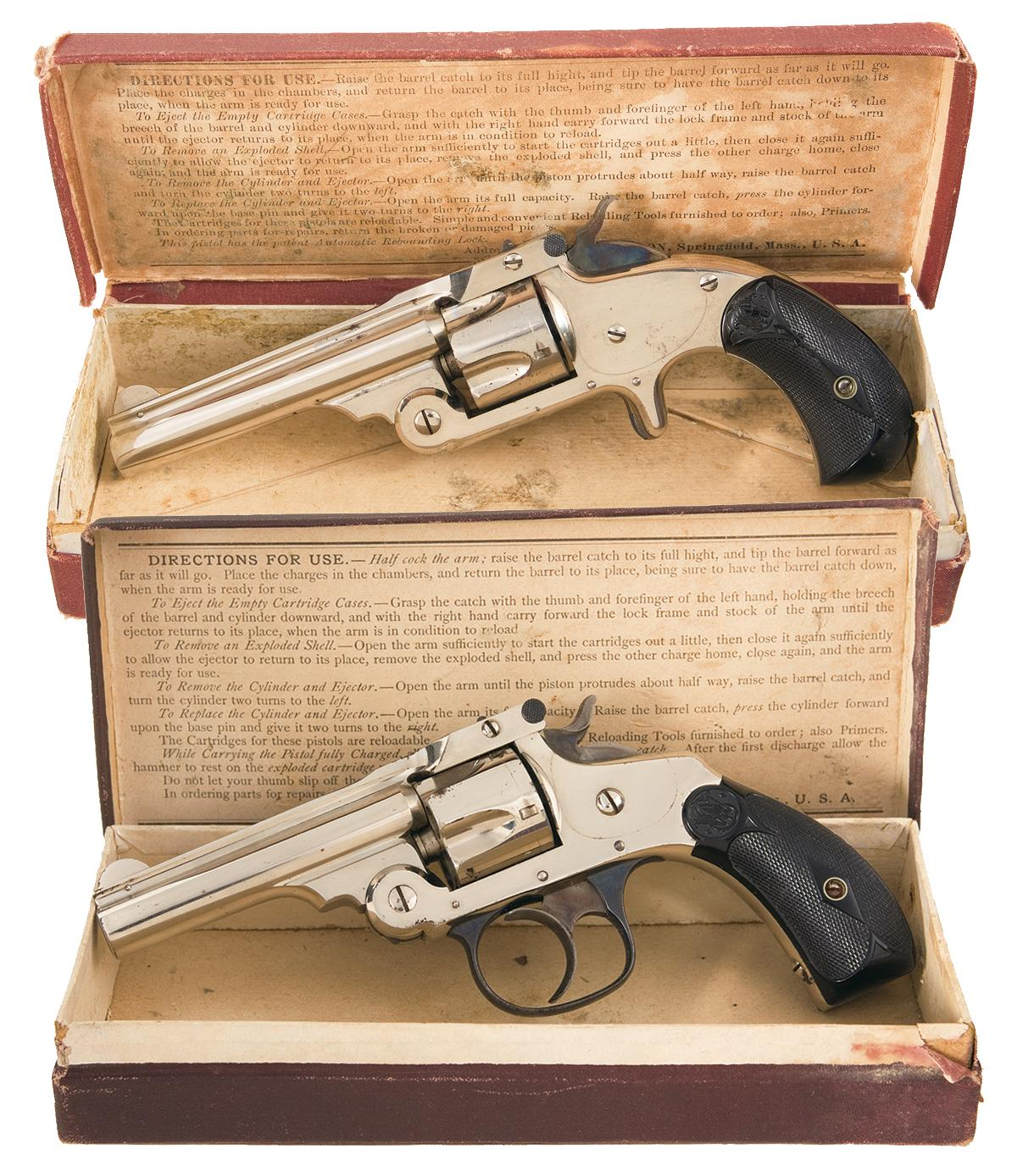 Two Boxed  32 Cal Smith & Wesson Revolvers -A) Smith & Wesson  32 Single  Action Spur Trigger Centerf