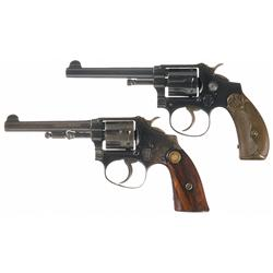 Two Smith & Wesson .22 Hand Ejector Double Action Revolvers -A) 1st Model Smith & Wesson Ladysmith D