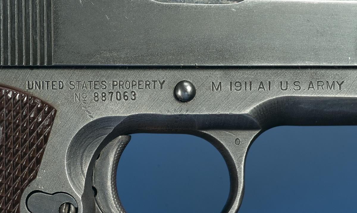 Scarce Original WWII U S  Army Colt/Ithaca Model 1911A1 Pistol