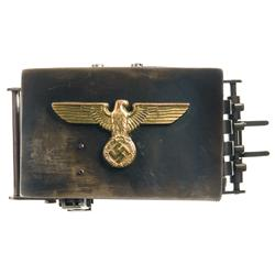 Rare Documented WWII Nazi Belt Buckle Pistol with Rare Gold Eagle