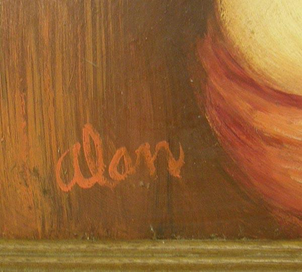 Framed Original Nude Painting by Alan Moore