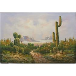 Original Desert Landscape Oil Painting by Taylor