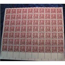 "8. Mint Sheet of .04c ""Andrew Carnegie"" Stamps. (Total face value $2.80)"