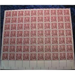 "9. Mint Sheet of .04c ""Andrew Carnegie"" Stamps. (Total face value $2.80)"
