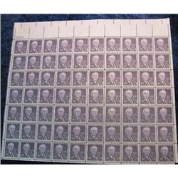 "10. Mint Sheet of .04c ""Walter F. George"" Stamps. (Total face value $2.80)"