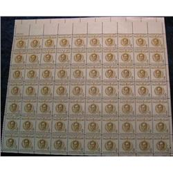 "14. Mint Sheet of .04c ""Champion of Liberty"" ""1783-1830 Simon Bolivar"