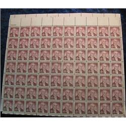 "16. Mint Sheet of .04c ""Ephraim Mc Dowell"" Stamps. (Total face value $2.80)"