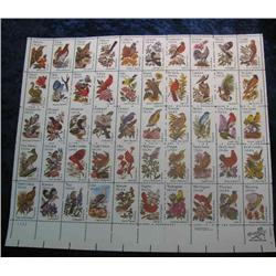 "20. Mint Sheet of .20c "" State Birds and Flowers"" Scott 1953-2002. Catalog $41.00."