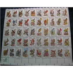 "22. Mint Sheet of .20c "" State Birds and Flowers"" Scott 1953-2002. Catalog $41.00."