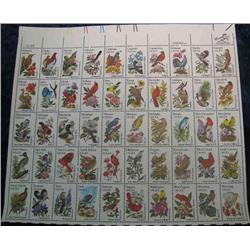 "24. Mint Sheet of .20c "" State Birds and Flowers"" Scott 1953-2002. Catalog $41.00."