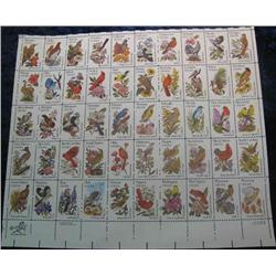 "26. Mint Sheet of .20c "" State Birds and Flowers"" Scott 1953-2002. Catalog $41.00."