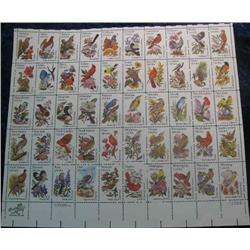"27. Mint Sheet of .20c "" State Birds and Flowers"" Scott 1953-2002. Catalog $41.00."