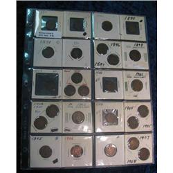 34. (26) Indian Head Cents grading Good to VG. All stored in a plastic page.