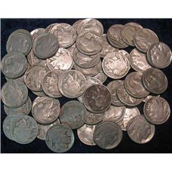 37. (105) Buffalo Nickels. All with dates.