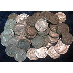 39. (105) Buffalo Nickels. All with dates.