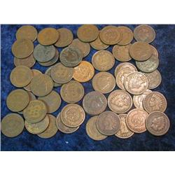 40. (51) Pre 1900 Indian Head Cents.