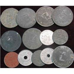41. (13) Old U.S. Tax Tokens.