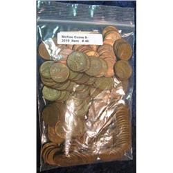 46. Bag of (150) EF-AU Wheat Cents.