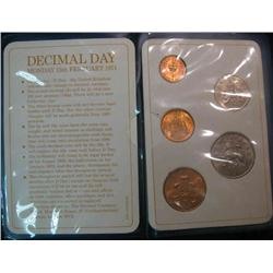 49. 5-Piece Great Britain Decimal Coin Set in a plastic case.