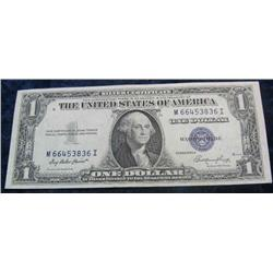 59. Series 1935E $1 Silver Certificate. AU-Unc.