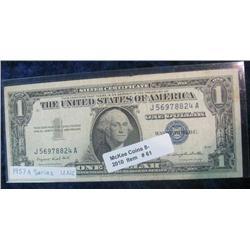 61. Series 1957A $1 Silver Certificate. EF-AU.