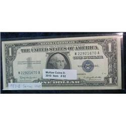 62. Series 1957B $1 Silver Certificate. Unc.