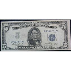 66. Series 1953 $5 Silver Certificate. EF.