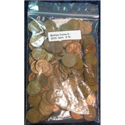 76. Bag of (150) EF-AU Wheat Cents.
