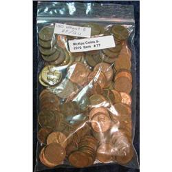 77. Bag of (150) EF-AU Wheat Cents.