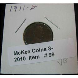 99. 1911 D Lincoln Cent. VG-8.