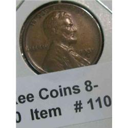 110. 1931 S Lincoln Cent. F-VF.