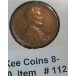 112. 1933 D Lincoln Cent. EF 40.