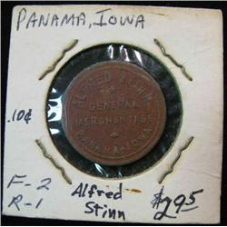 903. Alfred Stinn, General Mdse., Panama, Iowa, Good for 10c in Trade.