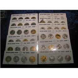 191. Huge Collection of (44) Different Dollar Gaming Tokens produced by the Franklin Mint.