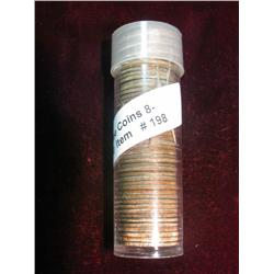 198. 1965 P Original BU Roll of Roosevelt Dimes stored in a plastic tube.