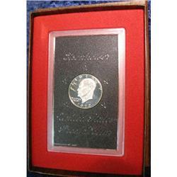 203. 1972 S Proof Eisenhower Silver Dollar in original brown box.