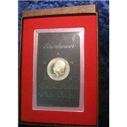 205. 1974 S Proof Eisenhower Silver Dollar in original brown box.