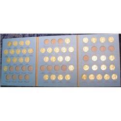 208. 1938-61 Partial Set of Jefferson Nickels in a blue Whitman folder. (46 pcs.)